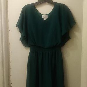 SWEET STORM sz small jade green 👗 dress